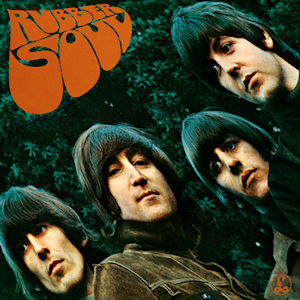 """The Beatles' """"Rubber Soul"""" album cover"""