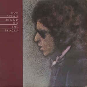 "Bob Dylan's ""Blood on the Tracks"" album cover"