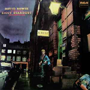 "David Bowie's ""The Rise and Fall of Ziggy Stardust and the Spiders from Mars"" album cover"