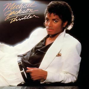 """Michael Jackson's """"Thriller"""" album cover"""