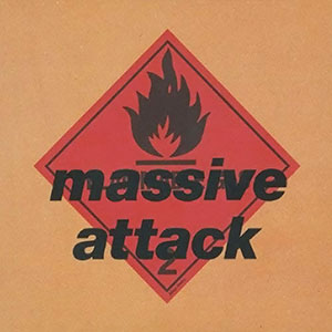 "Album cover for Massive Attack's ""Blue Lines"""