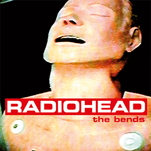 "Album cover for Radiohead's ""The Bends"""