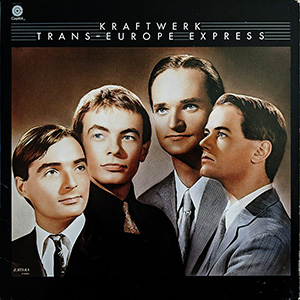 Album cover for Kraftwerk's Trans-Europe Express